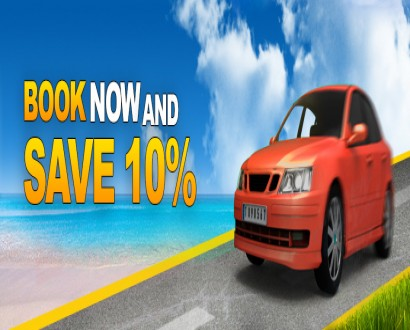 Enjoy cheap car deals-  discount for return journey